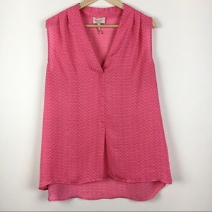 Laundry by Shelli Segal Pink Sleeveless Hi-Lo Top